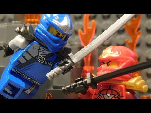 Blue Ninja Go - The Lego Ninjas are battling to the death in a deadly volcano who will win the Red Ninja or the Blue Ninja.