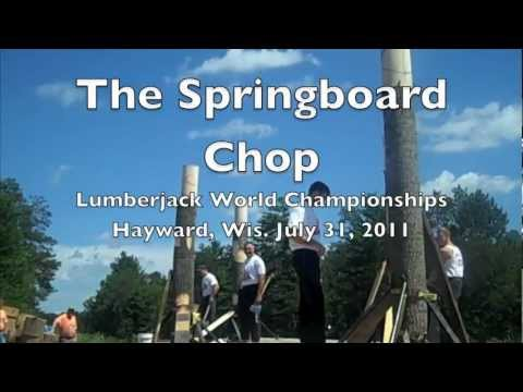 springboard - The Springboard Chop finals at the 2011 Lumberjack World Championships in Hayward, Wisconsin. July 31, 2011.
