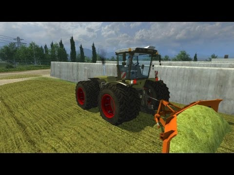 Farming Simulator 2013 (Alternative tipping mod) Xerion 3800 Trac-vc compattamento insilato