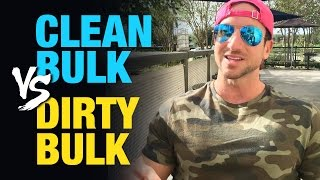 """Hey, skinny guy... Follow this to gain weight fast:http://www.weightgainblueprint.com/view/yt13oWhen it comes to clean bulking vs. dirty bulking there are certainly a lot of pros and cons to each. I am personally doing a mostly """"clean bulk"""" right now - but I actually thought of a few really good reasons why it might be better for you to do a dirty bulk.I know a lot of you guys watching this channel are super serious hardgainers, and i wanted to share with you a scenario in which I think """"dirty bulking"""" could benefit you and speed up your weight gain progress and possibly your strength in the gym.Dirty Bulking Pros:- A lot more fun to pig out on pop tarts, ice cream, and your favorite snacks.- Much easier to enter a calorie surplus due to many """"dirty foods"""" like pizza, donuts, and ice cream being more calorically dense.- If you don't let it get out of hand and follow the 80/20 rule you can still make great progress without storing too much body fat.- Works best if you are a beginner to the gym (less than 2 years of training).- If you don't care about gaining body fat along the way this is likely a better strategy for you.As you can see, if you are less than 2 total years in the gym and you wish to just increase the weight on the scale as fast as humanly possible you will certainly get there faster with a diet consisting of pizza, donuts, and ice cream vs. chicken breasts and potatoes.Remember, you gain weight from an """"energy surplus"""" and if you can pack in 4,000 total calories and your body is only burning 3,400 total calories you will put on a few lbs. of mass per week. Simple as that!The only thing is that you should make sure you get in some healthy calories or at least high quality protein such as chicken, fish, steak, or eggs.Clean bulking is my preferred choice, and is what a lot of people refer to as a """"lean bulk.""""Here are some of the benefits of the clean bulk...Clean Bulking Pros:- Your natural hormone levels like HGH and testosterone will be much higher if """