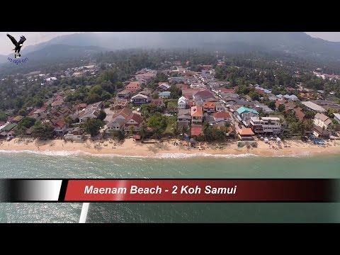 Maenam Beach 2 Koh Samui  Thailand  overflown with my drone
