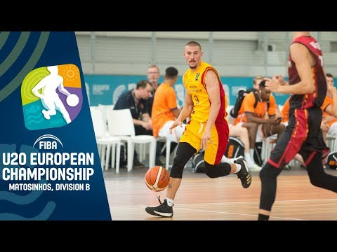 North Macedonia V Luxembourg - Full Game - FIBA U20 European Championship Division B 2019