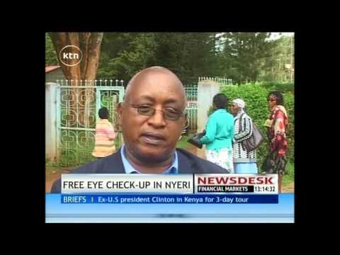 Kikuyu Hospital offers free eye check up for Nyeri residents