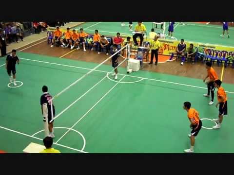 Sepak Takraw Game in  Thai(-17 age, man final)