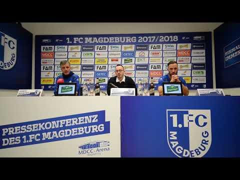 Pressekonferenz vor dem Spiel FC Rot-Weiß Erfurt gegen 1. FC Magdeburg