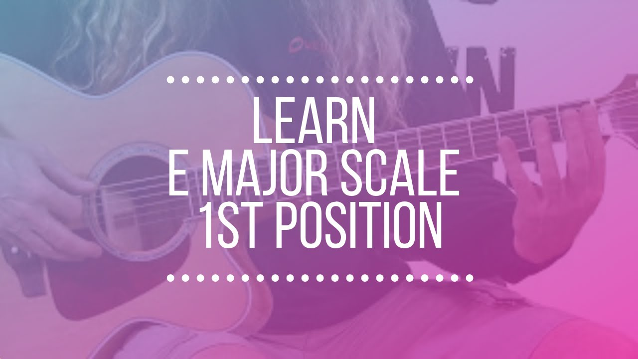 Free Guitar Lessons – E Major Scale 1st Posistion
