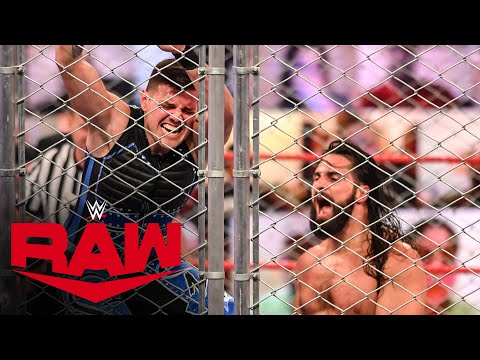 Dominik Mysterio vs. Seth Rollins – Steel Cage Match: Raw, Sept. 14, 2020