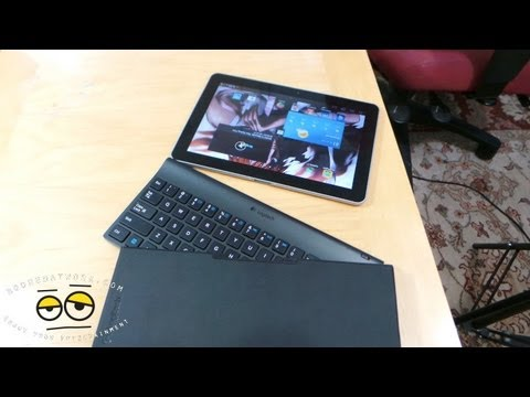 Logitech Win 8 RT/ Android Tablet Keyboard Review