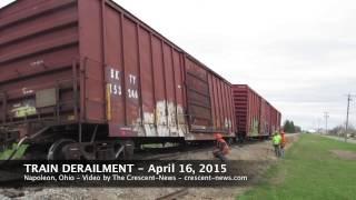 Napoleon (OH) United States  City pictures : Train derailment in Napoleon, Ohio