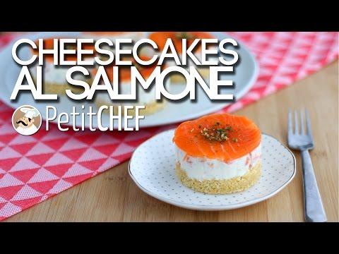 mini cheesecake salata al salmone - ricetta