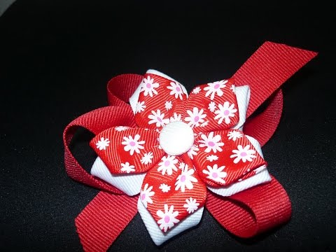 flores en cintas para decorar accesorios para el cabello .video  07 Manualidades la hormiga