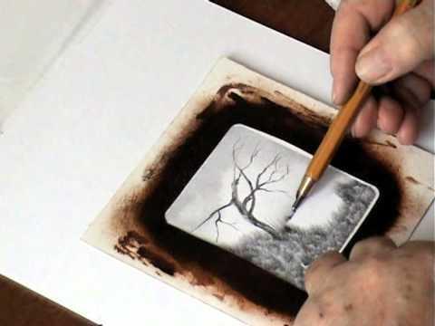 Navod Kresba Tuzkou Stary Strom Pencil Drawing The Old Tree