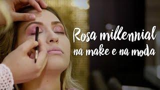 Como usar o rosa millennial na make e na moda