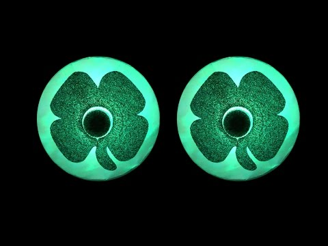 Clover/Shamrock Light Up LED Pasties by Sasswear