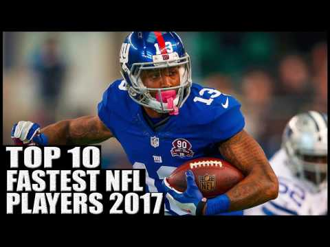 Top 10 Fastest Players in the NFL 2017 (видео)