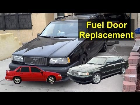 Volvo fuel door hing replacement, installation, 850, S70, V70, 960, etc. – Auto Repair Series