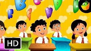 The Alphabet Song  - English Nursery Rhymes -  Animated/ Cartoon Songs For Kids