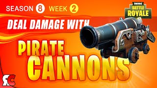 Fortnite WEEK 2 Deal damage to opponents with a Pirate Cannon (Season 8 Cannon Strategies)