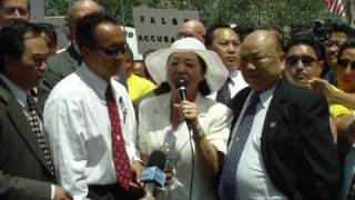 General Vang Pao's wife addresses Rally Crowd