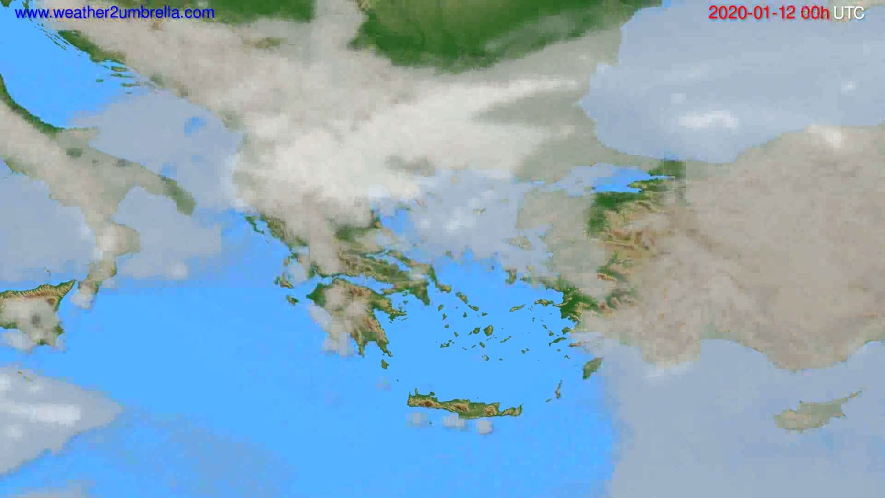 Cloud forecast Greece // modelrun: 00h UTC 2020-01-11