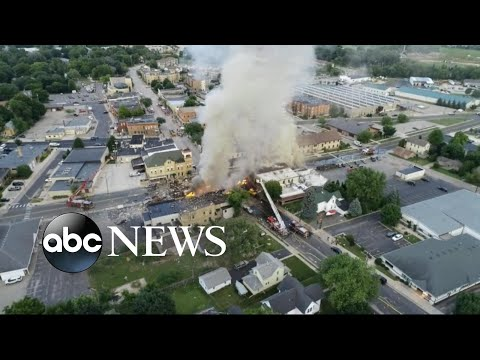 Gas explosion rocks Wisconsin town