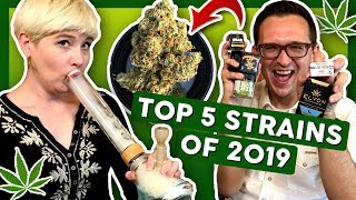 TOP 5 Favorite STRAINS of 2019 by That High Couple