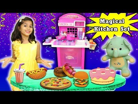 Pari's Fun Kitchen Set !Pari And Her Friends Doing Party L