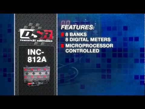 INC-812A: 2/12 Amp 12 Volt Automatic Eight Battery Charging Station
