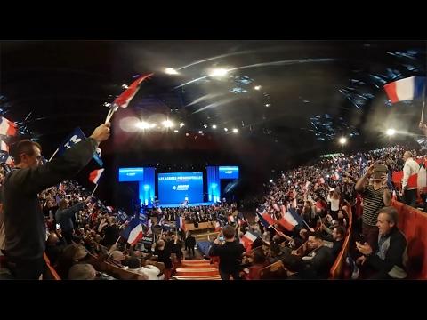 Η προεκλογική μάχη στην Γαλλία «μέσα από τα μάτια» μιας κάμερας 360º