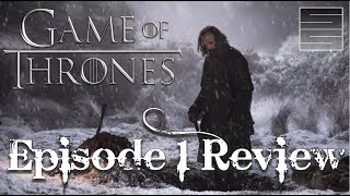 "Game Of Thrones Season 7 Episode 1 Review / BreakdownSubscribe! http://tinyurl.com/o93l5gnMerch: https://teespring.com/stores/smokescreenvids**Spoilers**Game of Thrones Season 7 is here! Here I review Game Of Thrones Season 7 Episode 1 ""Dragonstone"". After an awesome Game Of Thrones Season 7 premiere, here I break down the footage for Game Of Thrones Season 7 episode 1. Overall a great Game of Thrones Season 7 premiere! Thanks for watching! Please like, share and subscribe!Game of Thrones Season 7 Playlist: https://www.youtube.com/playlist?list=PLmRQBLduDYDQRHGVugBO5-L6XfCGaV5pcSupport SmokeScreen on Patreon: https://www.patreon.com/smokescreenvidsOne Time Donate: https://youtube.streamlabs.com/smokescreenvids1Game of Thrones Foreshadowinghttps://www.youtube.com/playlist?list=PLmRQBLduDYDQRHGVugBO5-L6XfCGaV5pcHow Game of Thrones Will End for Jon Snowhttps://www.youtube.com/playlist?list=PLmRQBLduDYDQP1OjDLR4L2oNxw4qz1-VECheck my other channels!SmokeScreen Vlogs: https://www.youtube.com/smokescreenvlogsSmokeScreen Gaming: https://www.youtube.com/smokescreenvidsgaming_____________________________________________________Become a Patreon: https://www.patreon.com/smokescreenvidsGet My Nerdy T-Shirts here: http://shrsl.com/?~aby2Support SmokeScreen by shopping on Amazon: http://tinyurl.com/ppogxl2Shop Think Geek: http://www.jdoqocy.com/click-8070392-12561902-1460987025000GeekFuel (get a GOT item in your first box) https://www.geekfuel.com/smokescreen_____________________________________________________Playlists:Game of Thrones / ASOIAF: https://www.youtube.com/playlist?list=PLmRQBLduDYDSph052nREYMIpDlUHzJlPBWestworld Season 1: https://www.youtube.com/playlist?list=PLmRQBLduDYDRbXeC-bdFWC_WJ3CmykSUHStar Wars: https://www.youtube.com/playlist?list=PLmRQBLduDYDSyW8W17-AxNYLjetGQvDkm______________________________________________________Send Stuff:Lochmoor ProductionsPO Box 1011Kannapolis, NC 28083Follow Me on Social: Facebook: https://www.facebook.com/smokescreenvidsTwitter: https://twitter.com/smokescreenvids @smokescreenvidsInstagram: https://instagram.com/smokescreenvids @smokescreenvidsWebsite: http://smokescreenvids.comPatreon Executive Producers:Hoss Griffin, VolGuy10, Lala Gig , Kissa Powell, Marc Joseph aka The Snow In Winterfell, Marylin Bentley, JoAnna, Sean Hayes, Doc Holiday, Anonymous, Goska, HoonJive, KieranD20, Nicki Snow, Lo Horton, Erin Habig, Ashley MaePatreon Producers: John Carey, KSoze1024, Lauren Young ,Sarah Pearce, Jessica McWhorter, Lori Perry, Peach, Lo Horton, Anie Smith, Maureen Grigas, Nicole Kron, Andreas Aass, Vitruvius, MamaQB, Trishyjane, Ashley Smith, Jack Welsh, Claire McKen, Red River Giant, Lauren Wagstaff, Robert Thatcher, Calebflub, Jason Targaryen, Heath Hinton, Richard Clark, Andrew Smith, Goska Biczysko, Karri Neves, Demetrios, Kathryn Bassett, Pri Figueirdo, Maie, Sanford Hoffman, Heddy Hop, Ricky, Stacy Fournet, Anesha Smith, Darrin Reisinger, Zombie Hoax, Lawrence Froncek, Tameka, Steve Mckenna, Jessy C., Joe Gaylord, Cait, Luis Teleno, Magaly , Taylor, Marilyn Benitez, Amber Tilton, Jenni Upcott, Kimberly Sherman, Betsy Leiss, Joanne Long, KatS, The Sennett, CinnE, Michele, Dale Cooper, Denny D'Intino, Nynke Bouma, Jamal, AvecRali, Killerfrost419, Kimberly Genova, Lady Laxara, Carol Funk, Keltia Breton, Vasilie Crisan, Alexis Bell, Ygritte's Bow, Bolo7678, Mayra Perez Colon, Shawn Shifflett, Hairless Oyster, Barbara Chetti, Shahade Fonville, Crawdaddct, Stephen Robinson"
