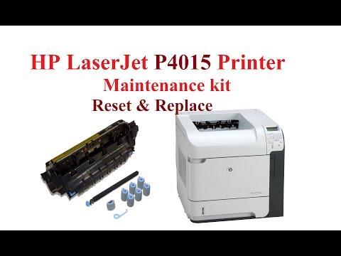 HP LaserJet P4015 Printer Maintenance kit reset & replace