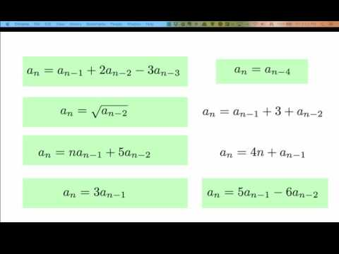 Linear homogeneous recurrence relations