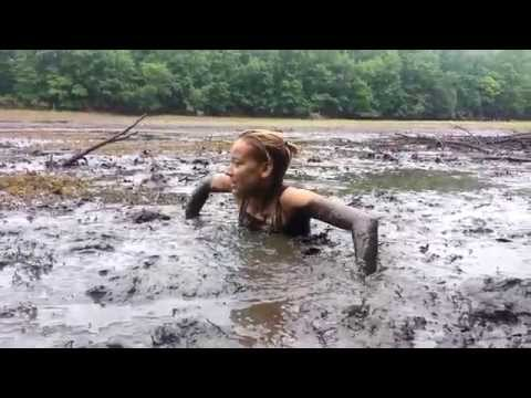 quicksand mud - Got my girlfriend stuck in some really deep mud.