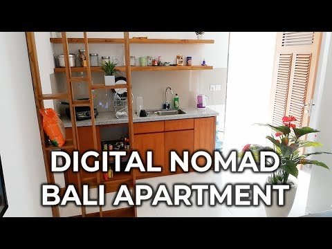 Digital Nomad Living: Fancy Bali Apartment for only $380 USD a Month!