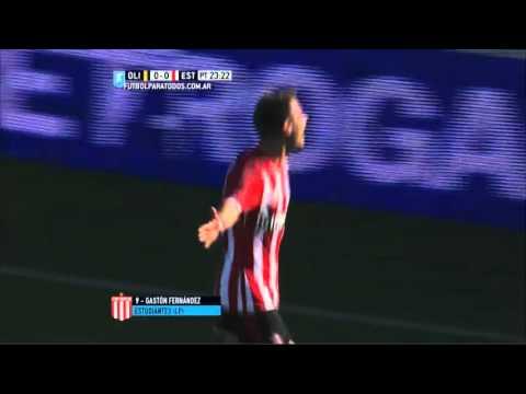 Gol de Fernández. Olimpo 0 – Estudiantes 1. Liguilla Pre-Sudamericana 2015. FPT.