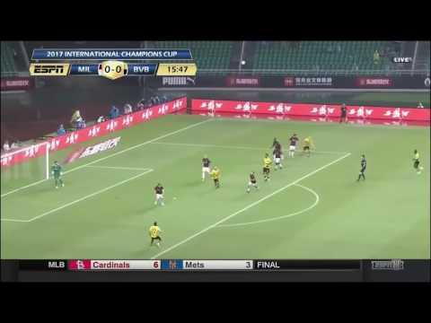 Ac milan 1 - 3 Dortmund Champions Cup Kina ALL goals & highlights  2017