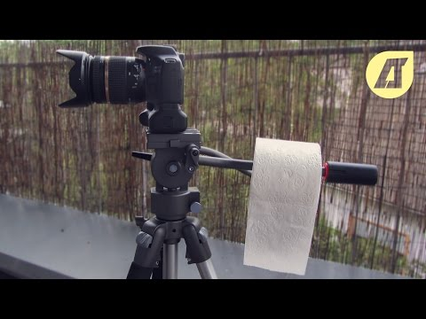 Штатив и туалетная бумага вместо слайдера*