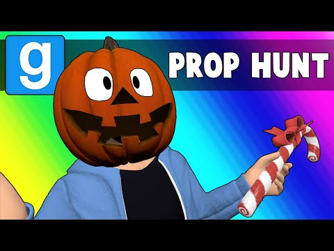 Gmod Prop Hunt Funny Moments - Christmas or Halloween 2018? (Garry's Mod) (видео)