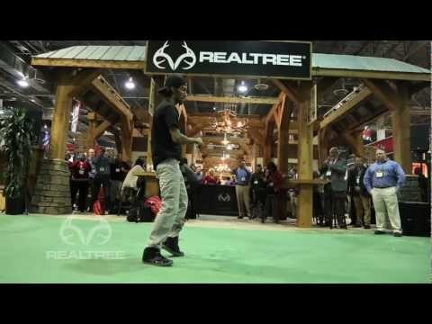 marquese - January 15, 2013: Special guest and entertainer Marquese Scott performing at the Realtree SHOT Show booth in Las Vegas, Nevada to celebrate the introduction ...
