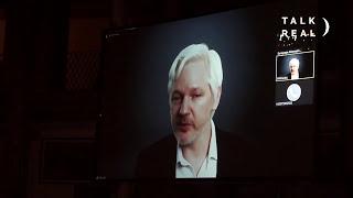Srecko Horvat, Katja Kipping, Julian Assange DiEM25 in Italy