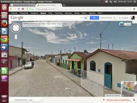 Navegando pelas Ruas de Prado-BA através do Google Mapas.