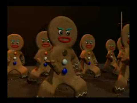 Gingerbread men Haka dance