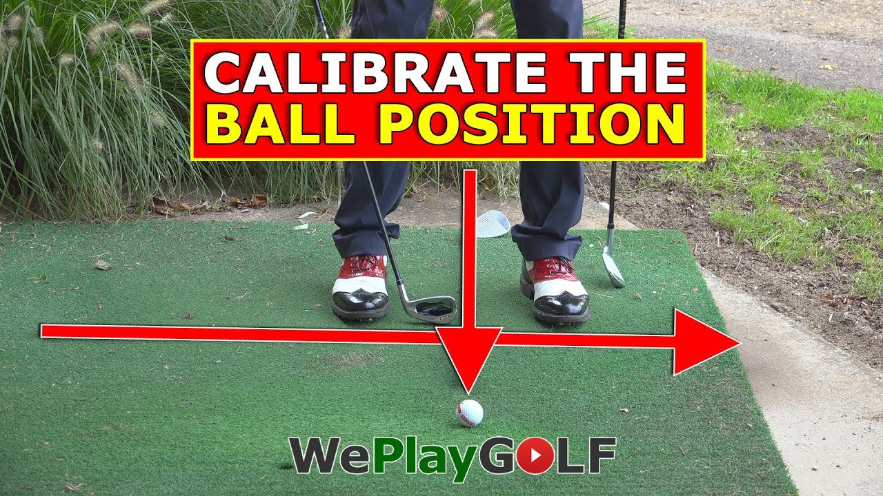 Calibrate the ball position for your iron clubs