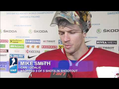 canada - CAN-SWE 2-3 (SO) Post Game Comments from H. Sedin (SWE), Smith (CAN) and Eberle (CAN)