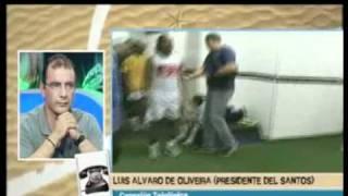Presidente santista explica aos espanhois porque não quer vender  Neymar.