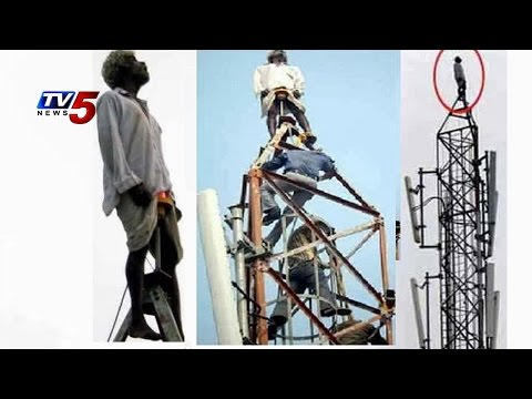 Man Climbs Radio Station Tower & Threatening for Suicide : TV5 News