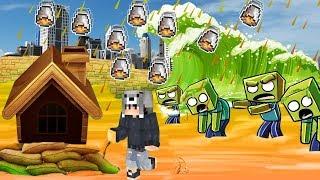 NOOB VS LAV YAĞMURU ve ZOMBİ TUSUNAMİSİ! - Minecraft