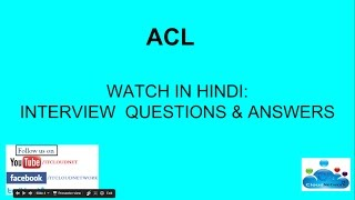 Watch in Hindi: ACL Interview Questions and Answers for Both Fresher & Experience