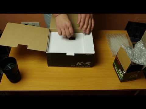 Pentax K5 unboxing
