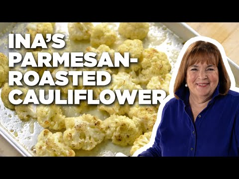 How to Make Ina's Parmesan-Roasted Cauliflower | Food Network